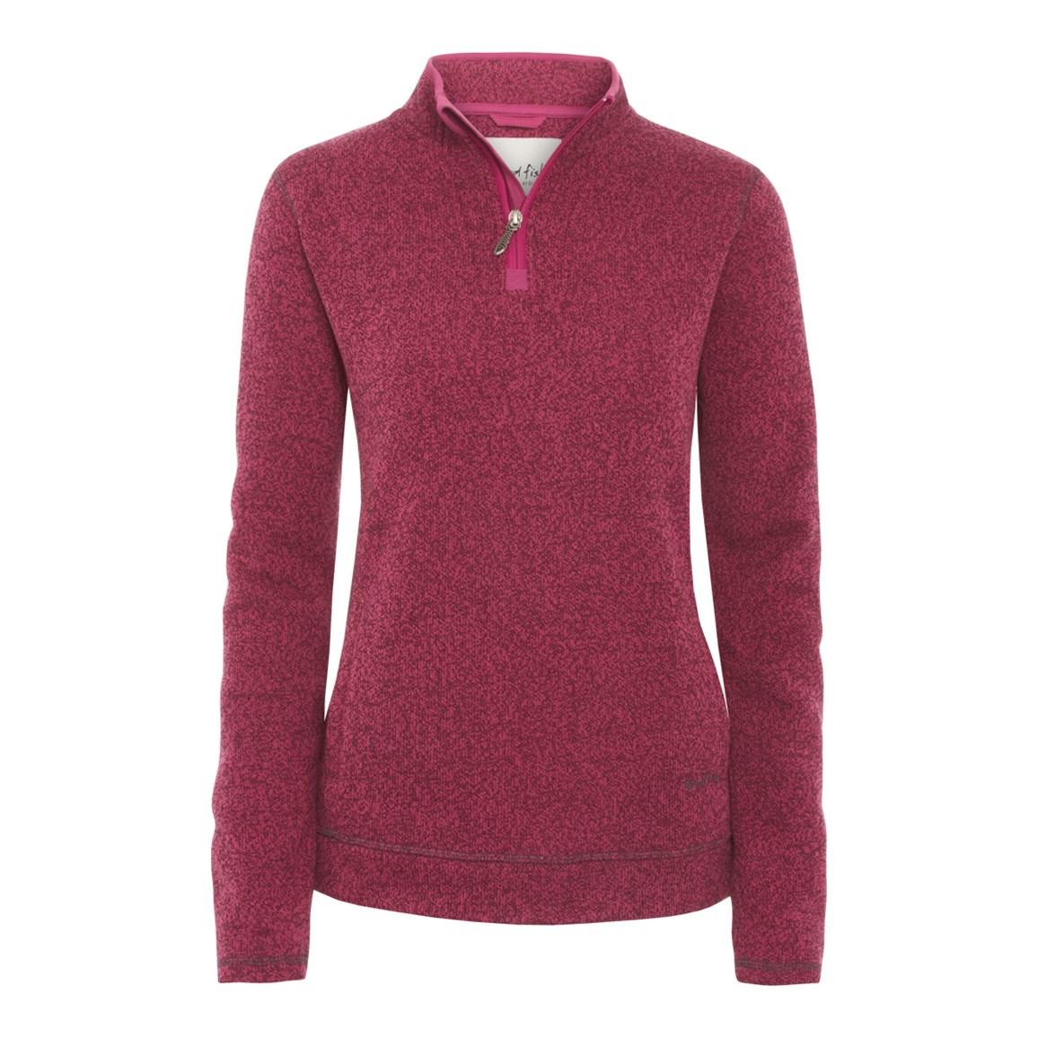 Vogel 1/4 Zip Soft Knit Fleece Fuschia