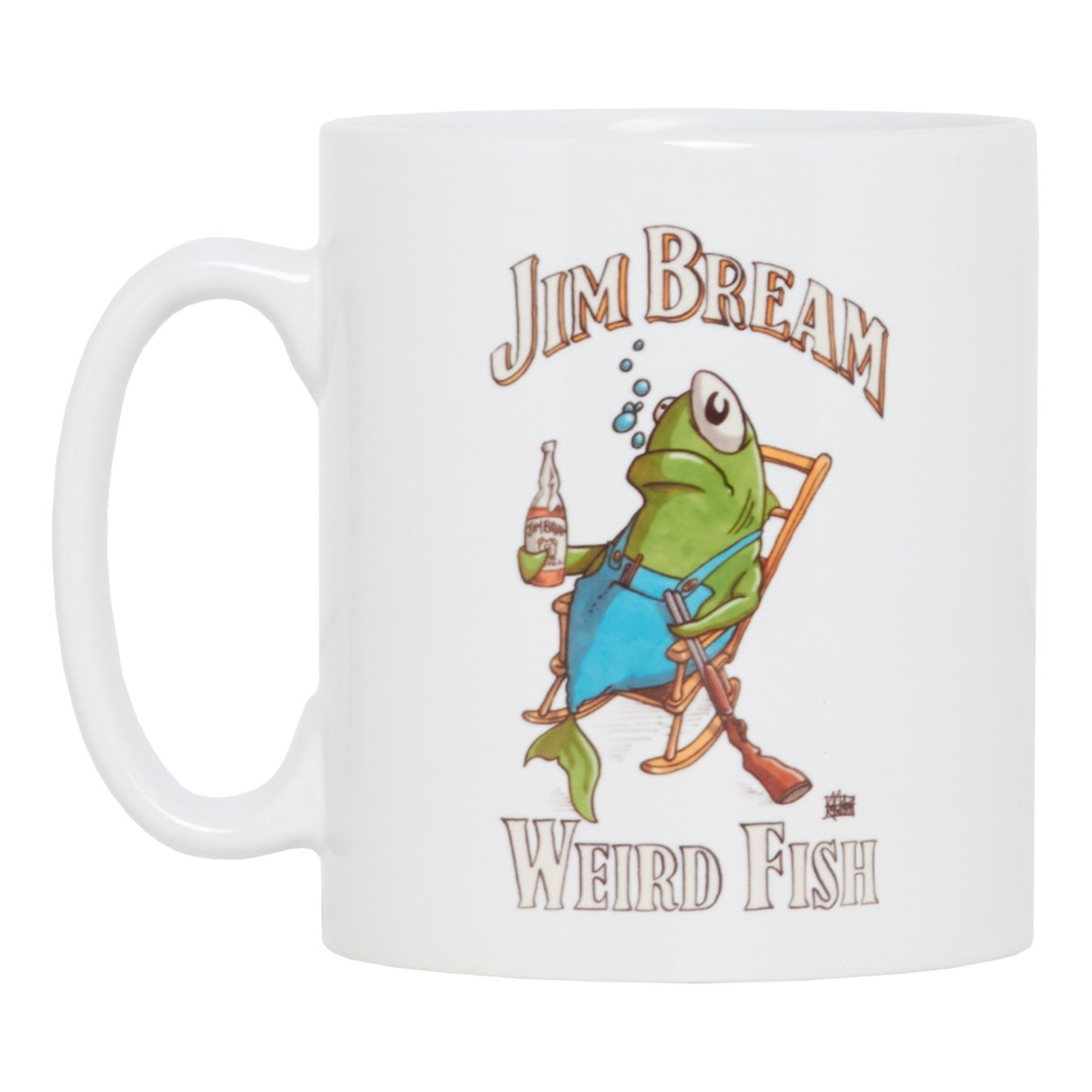 Image of Jim Bream Graphic Print Mug White