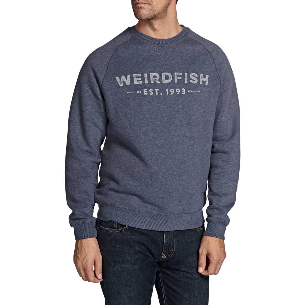 Clyde Printed Crew Neck Sweatshirt Dark Navy