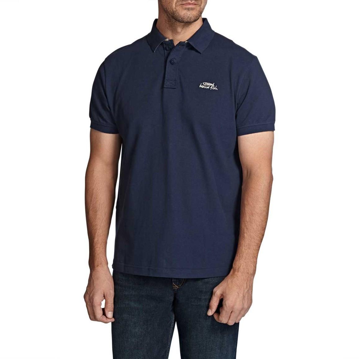 Barros Classic Pique Polo Shirt Dark Navy