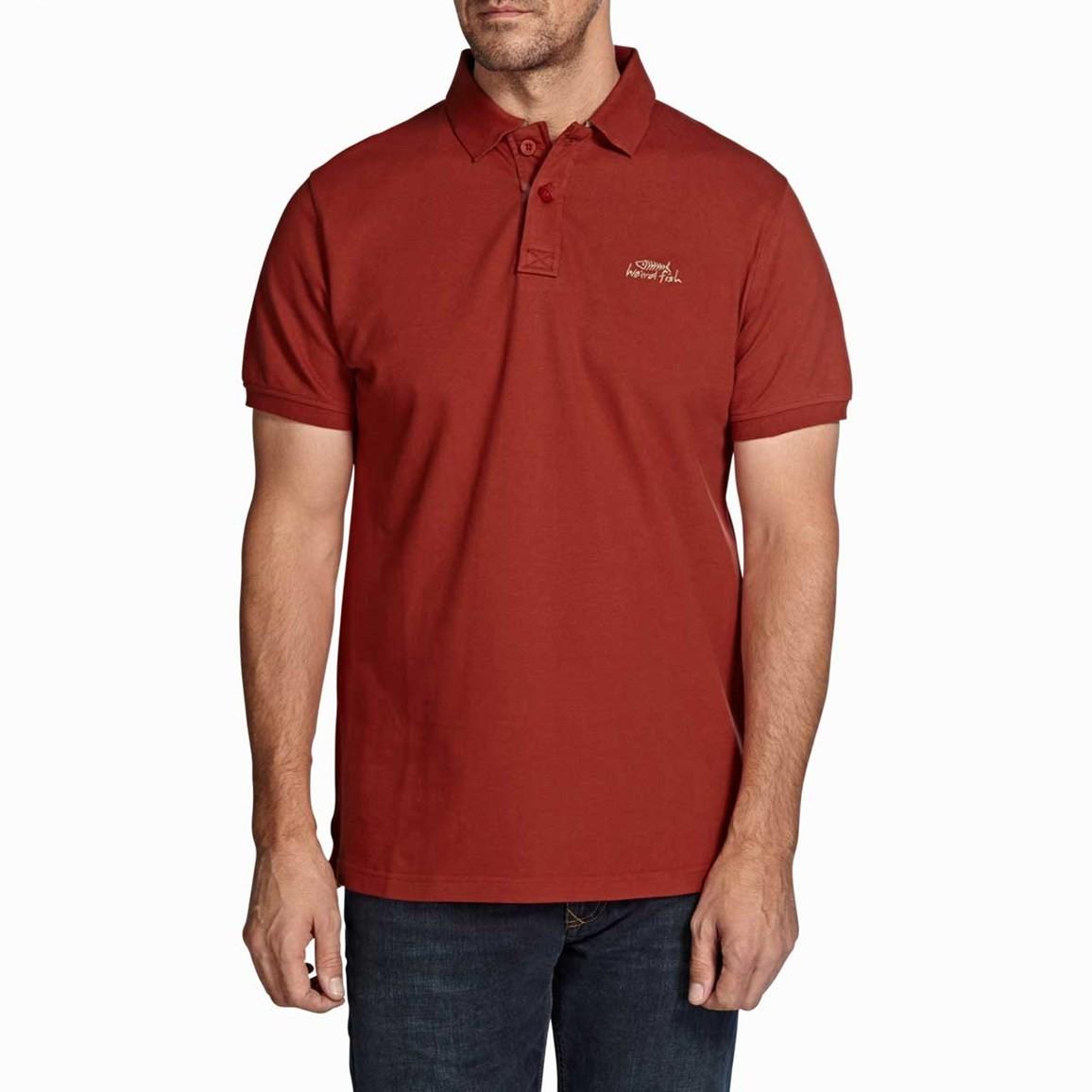 Barros Classic Pique Polo Shirt Chilli Red