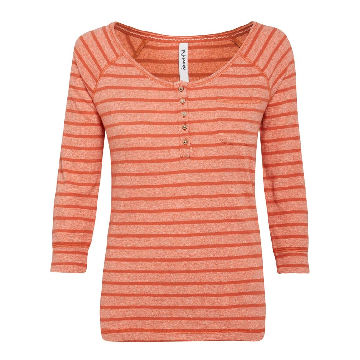 Summer Haze Grindle Stipe T-Shirt Burnt Orange