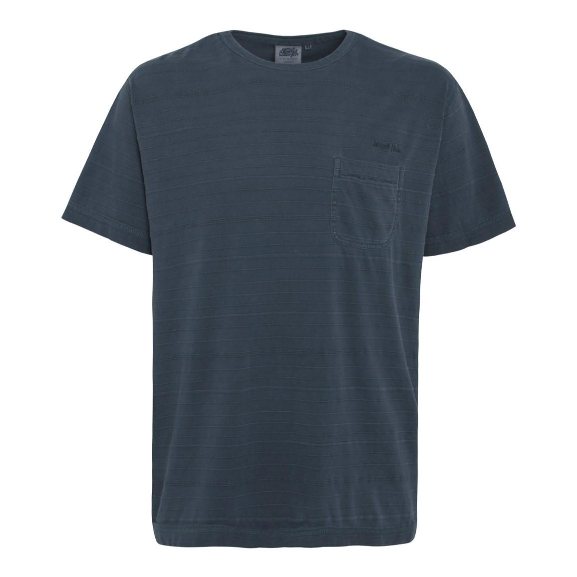 Dwell Textured Stripe T-Shirt Dark Navy