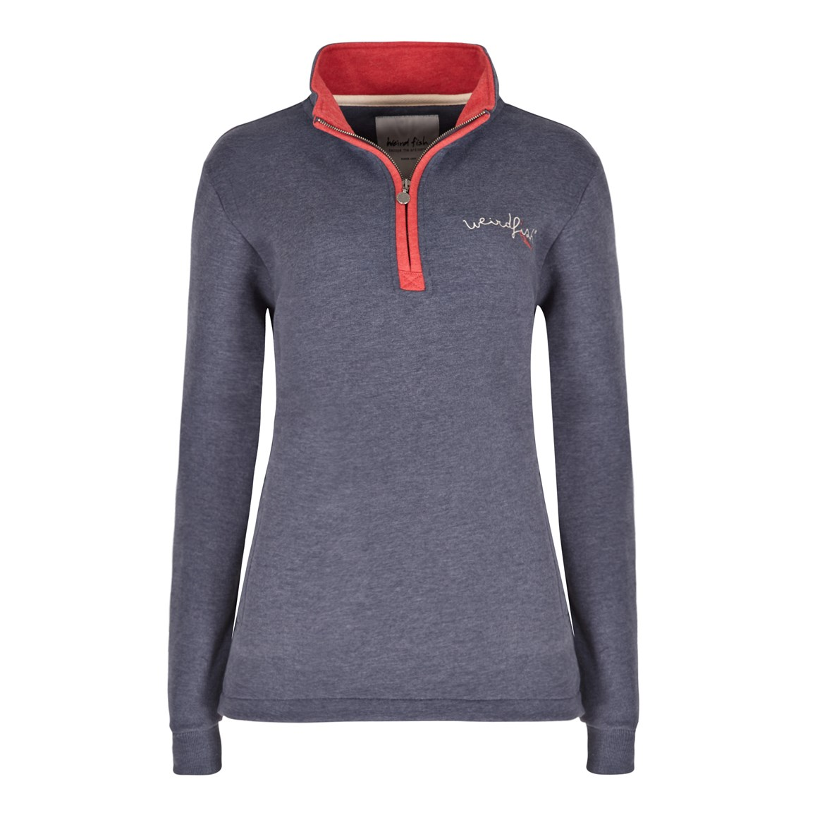 Aurora 1/4 Zip Graphic Print Sweatshirt Dark Navy