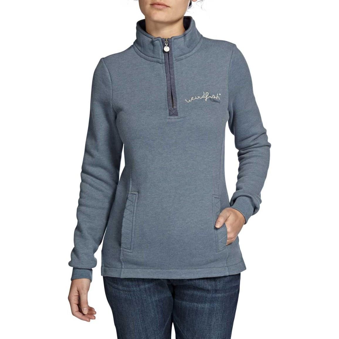 Aurora 1/4 Zip Graphic Print Sweatshirt Storm