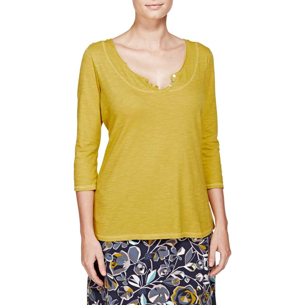 Petra 3/4 Sleeve Plain T-Shirt Turmeric