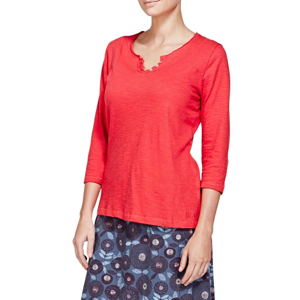 Petra 3/4 Sleeve Plain T-Shirt Foxberry
