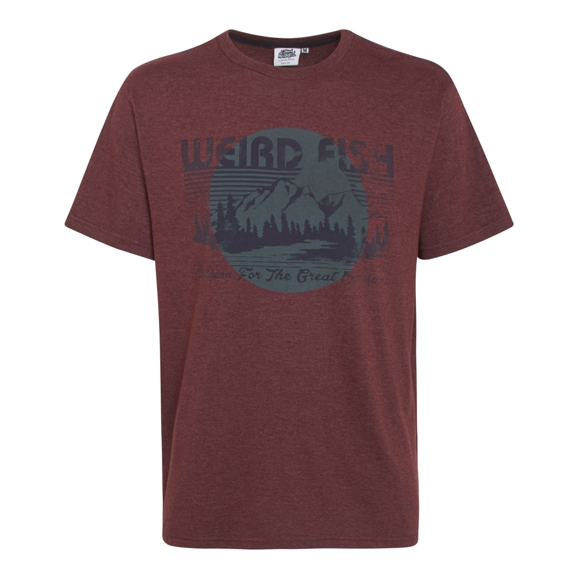 Great Outdoors Jersey Graphic Print T-Shirt Conker Marl
