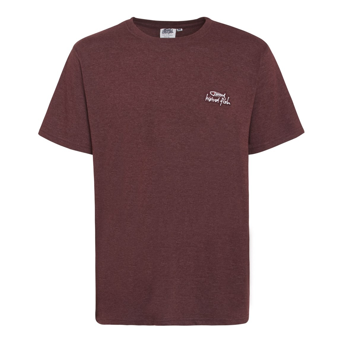Bones Embroidered Logo Classic Plain T-Shirt Conker Marl