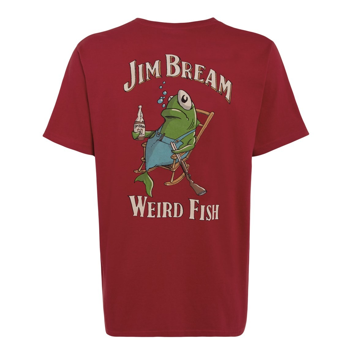 Jim Bream Printed Artist T-Shirt Jester Red