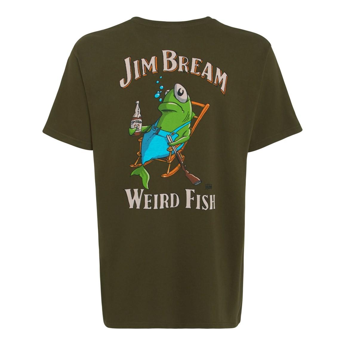 Jim Bream Printed Artist T-Shirt Olive Night