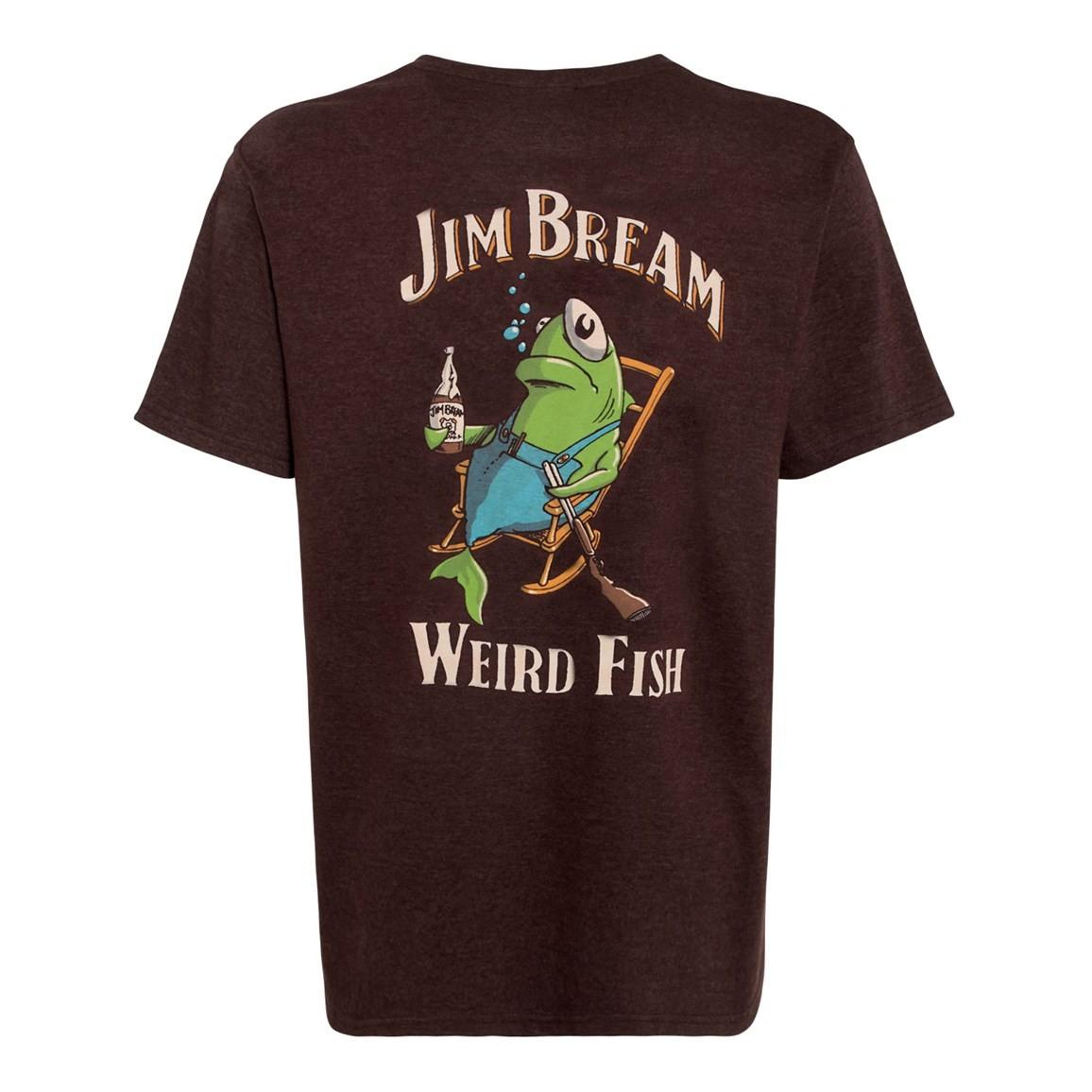 Jim Bream Printed Artist T-Shirt Conker Marl