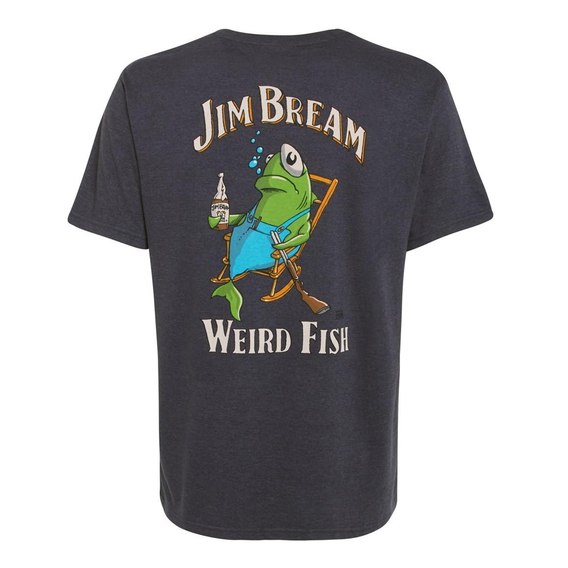 Jim Bream Printed Artist T-Shirt Ebony Marl