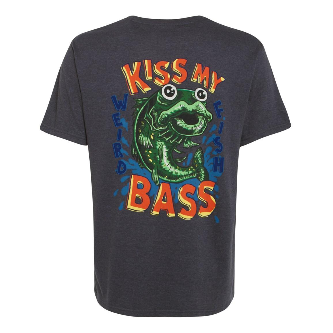 Kiss My Bass Printed Artist T-Shirt Ebony Marl