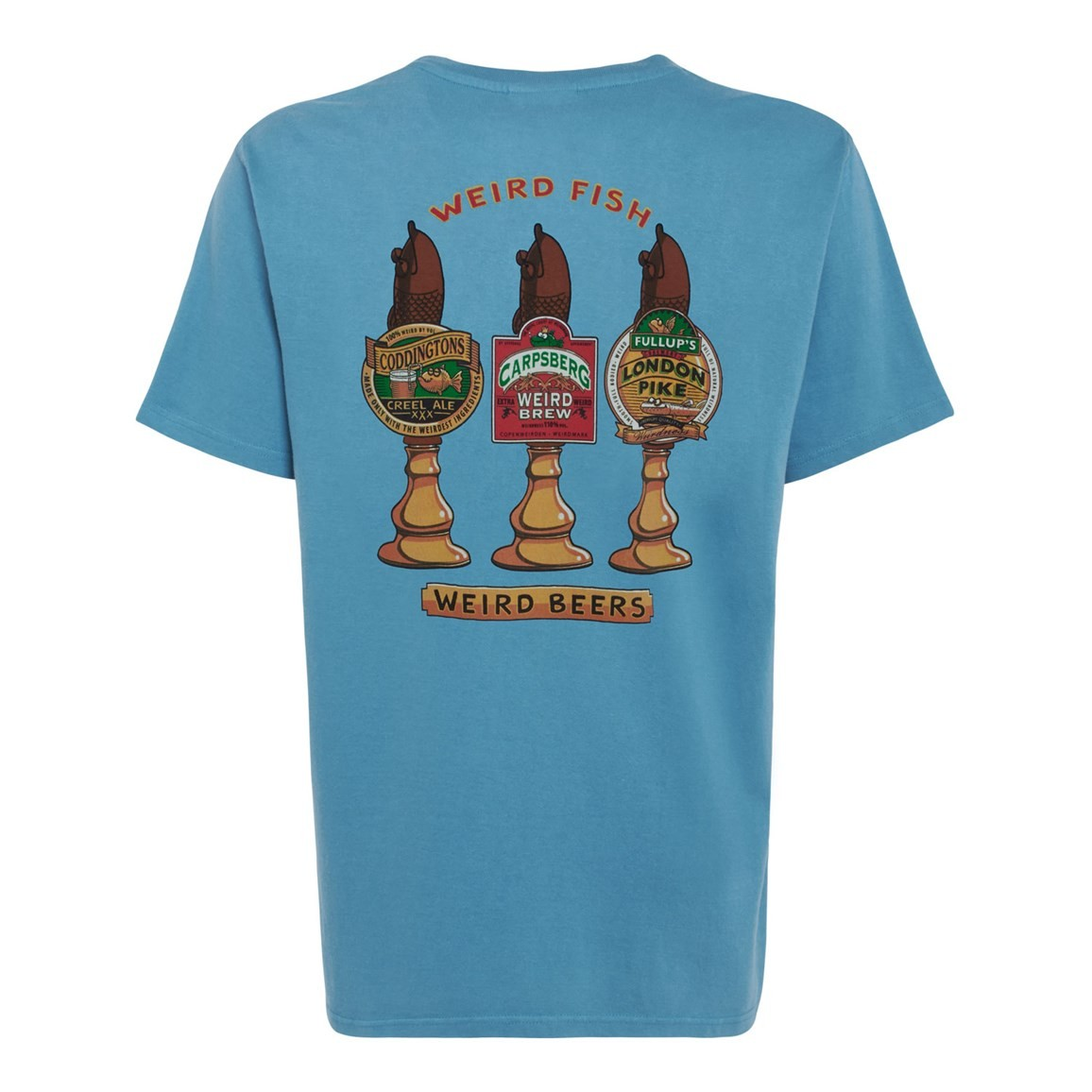 Weird Beers Printed Artist T-Shirt Adriatic Blue