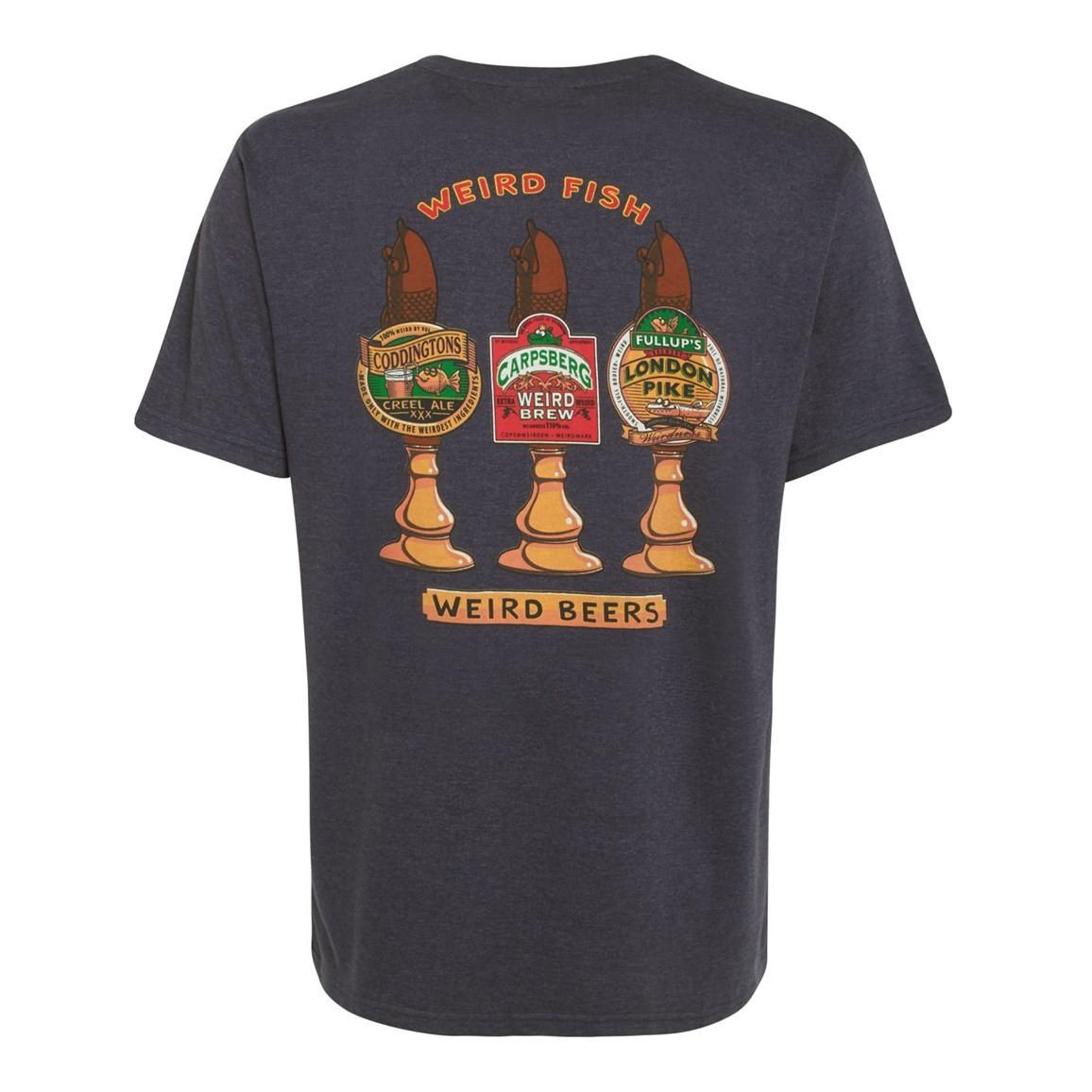 Weird Beers Printed Artist T-Shirt Ebony Marl