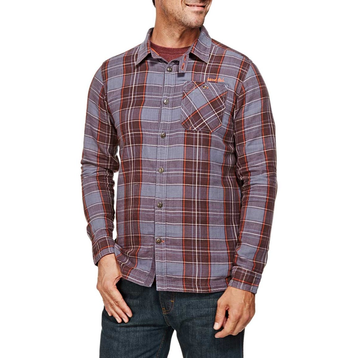 Crusader Check Long Sleeve Shirt Nightshade