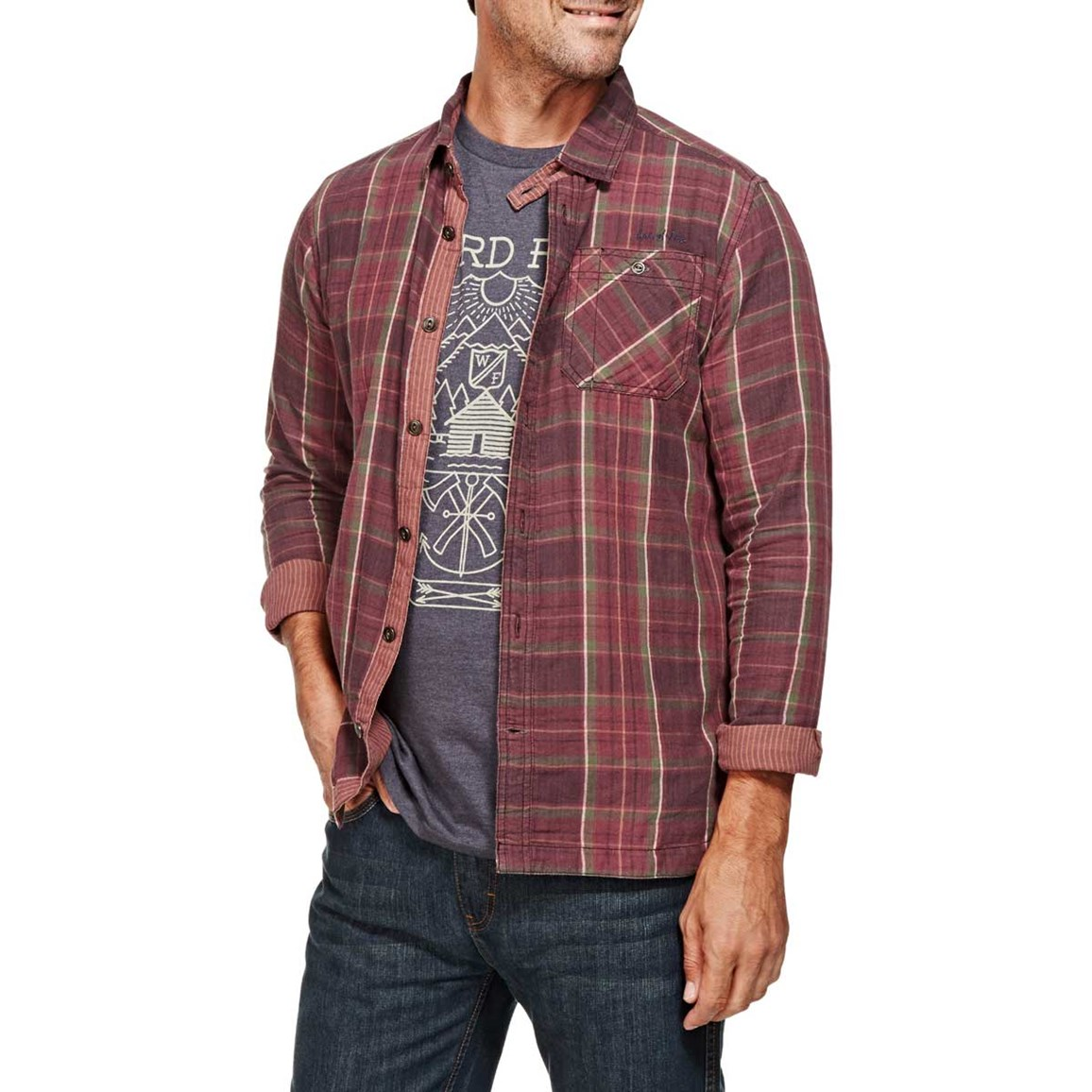 Crusader Check Long Sleeve Shirt Conker