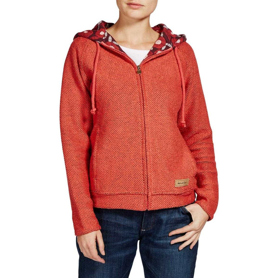 Image of Chicoa Full Zip Macaroni Hooded Sweatshirt Foxberry