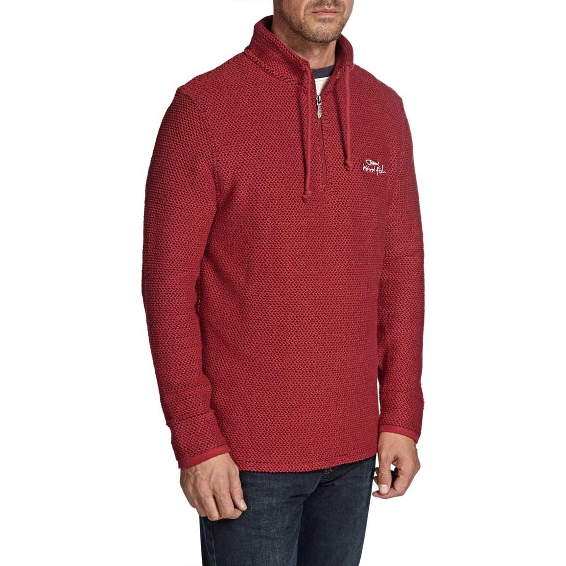 Cruiser 1/4 Zip Classic Macaroni Sweatshirt Jester Red