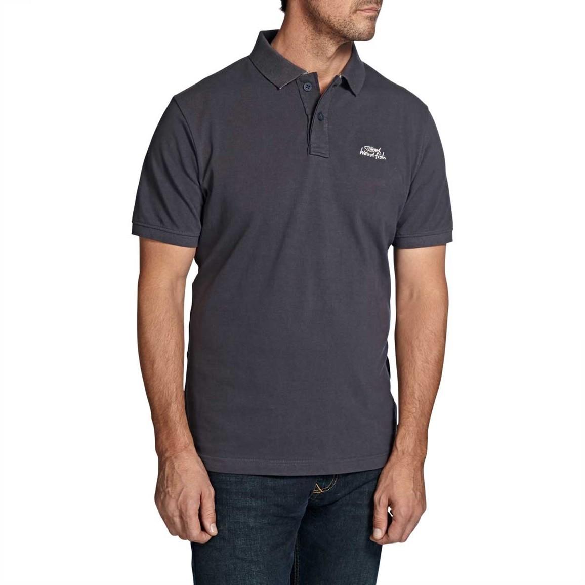 Barros Plain Classic Pique Polo Shirt Ebony