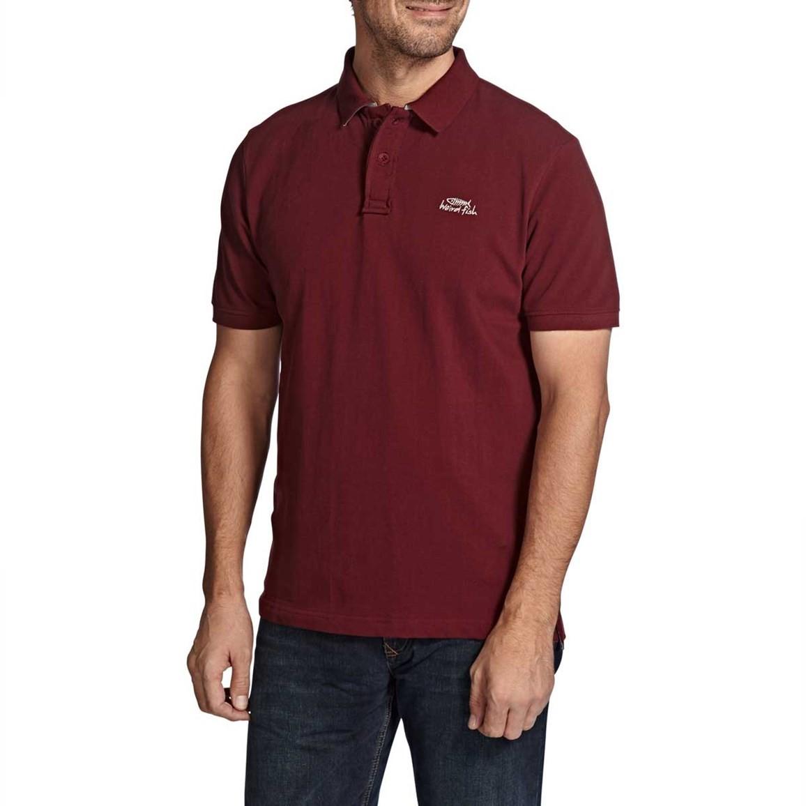 Barros Plain Classic Pique Polo Shirt Conker