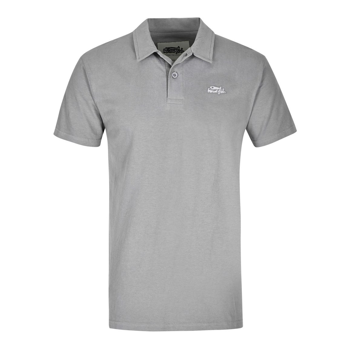 Andrew Plain Jersey Polo Shirt Frost Grey