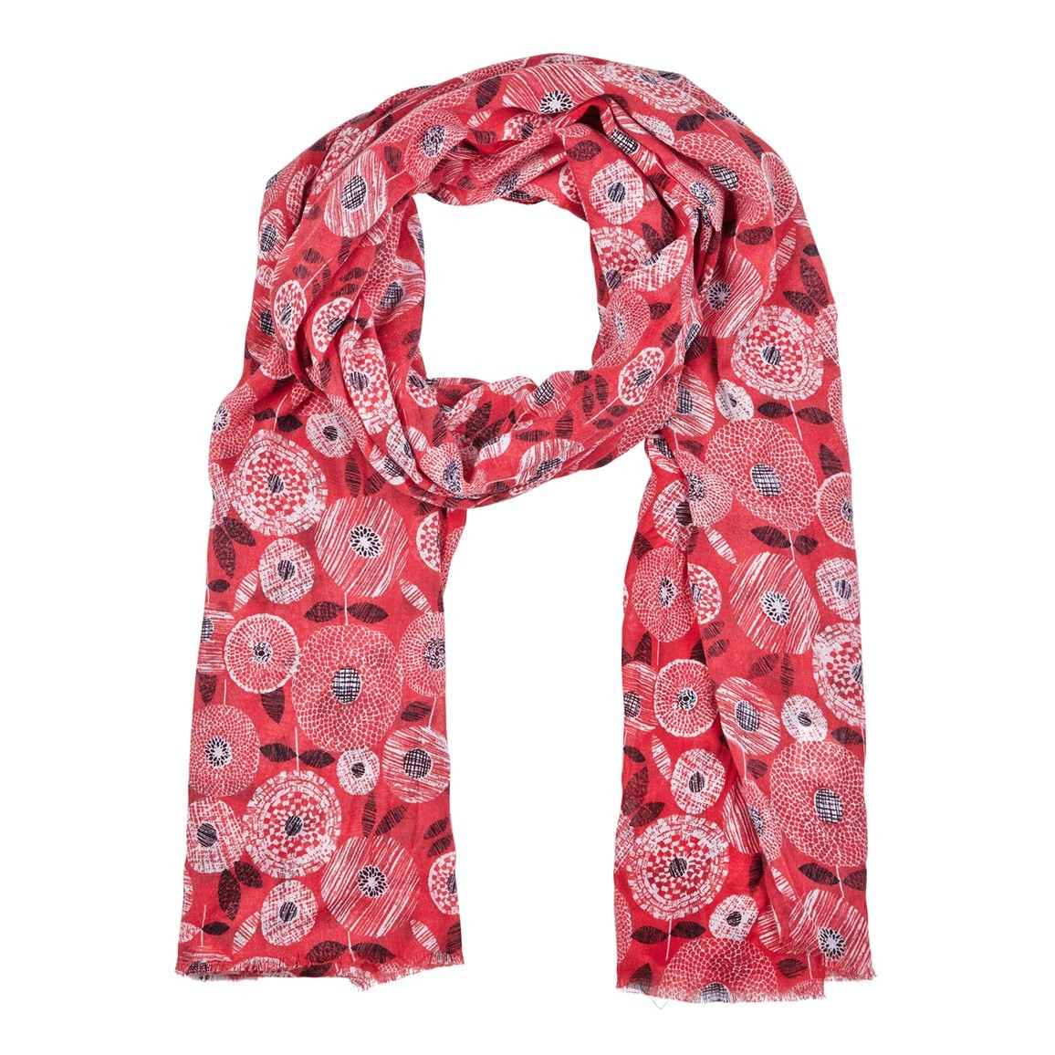 Alverton All Over Print Soft Handle Scarf Foxberry