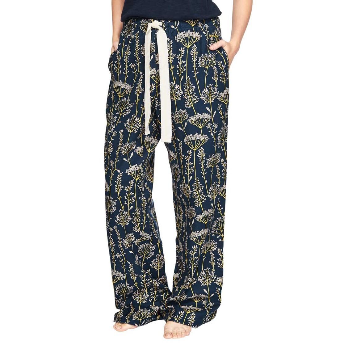Iceland Cotton Printed Pyjama Bottoms Dark Navy
