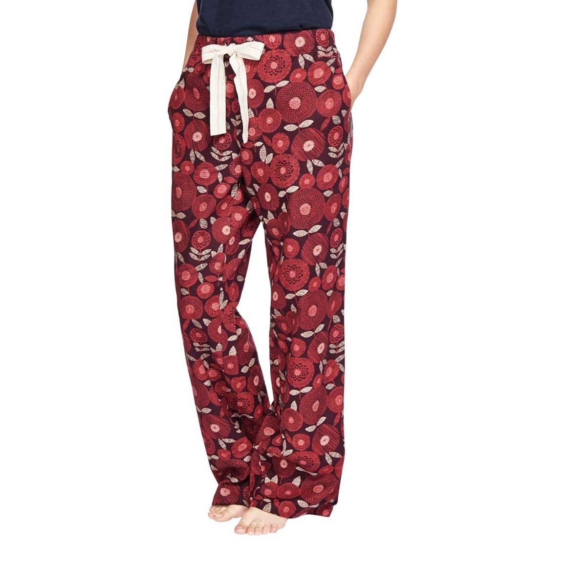 Iceland Cotton Printed Pyjama Bottoms Boysenberry