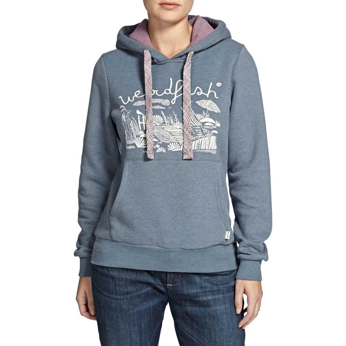 Ophelia Branded Graphic Print Hooded Sweatshirt Storm