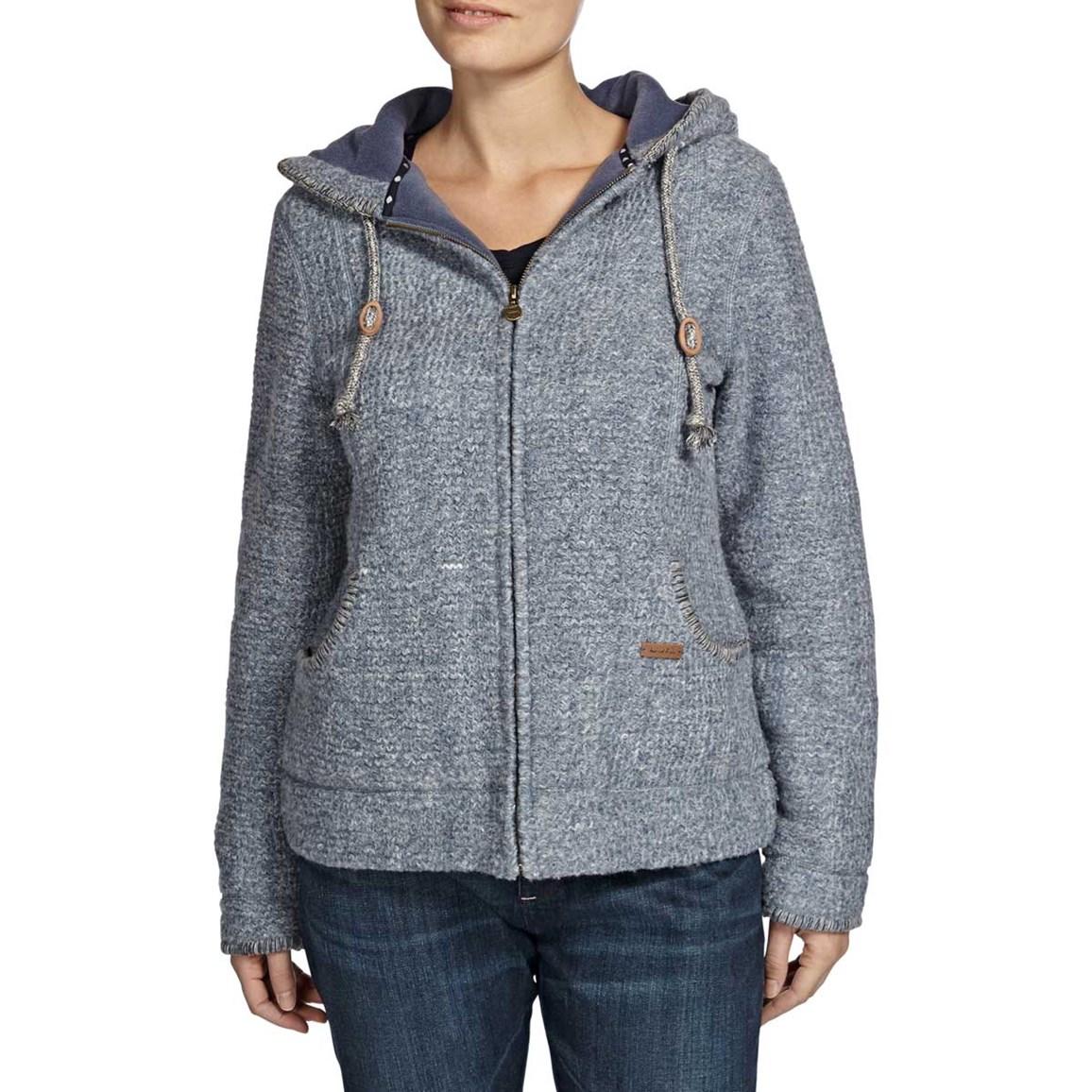 Valby Zipped Wool Blend Hooded Fleece Storm