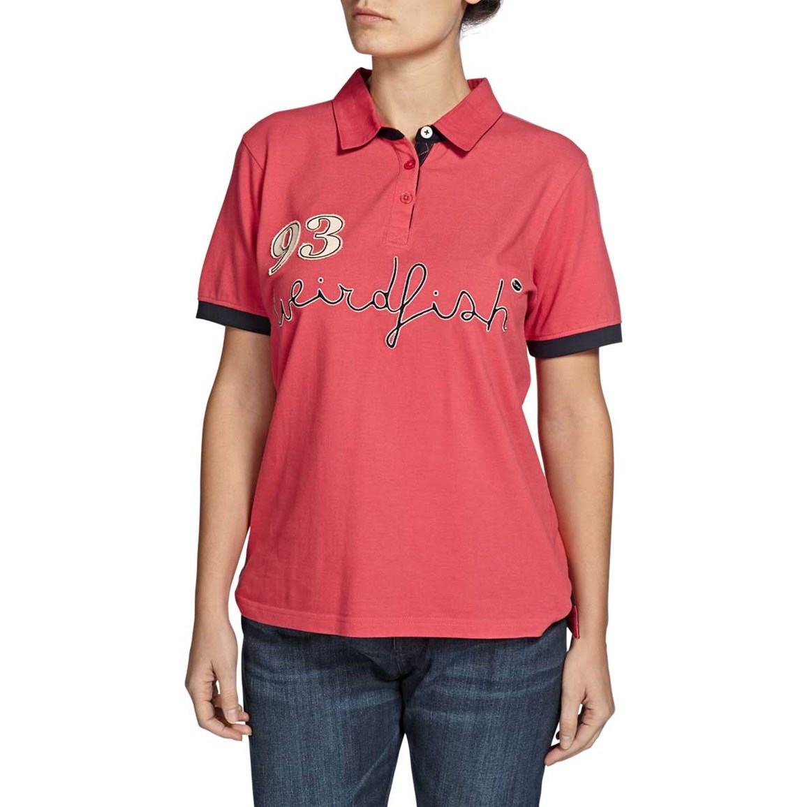 Kendrick Graphic Print Polo Shirt Foxberry