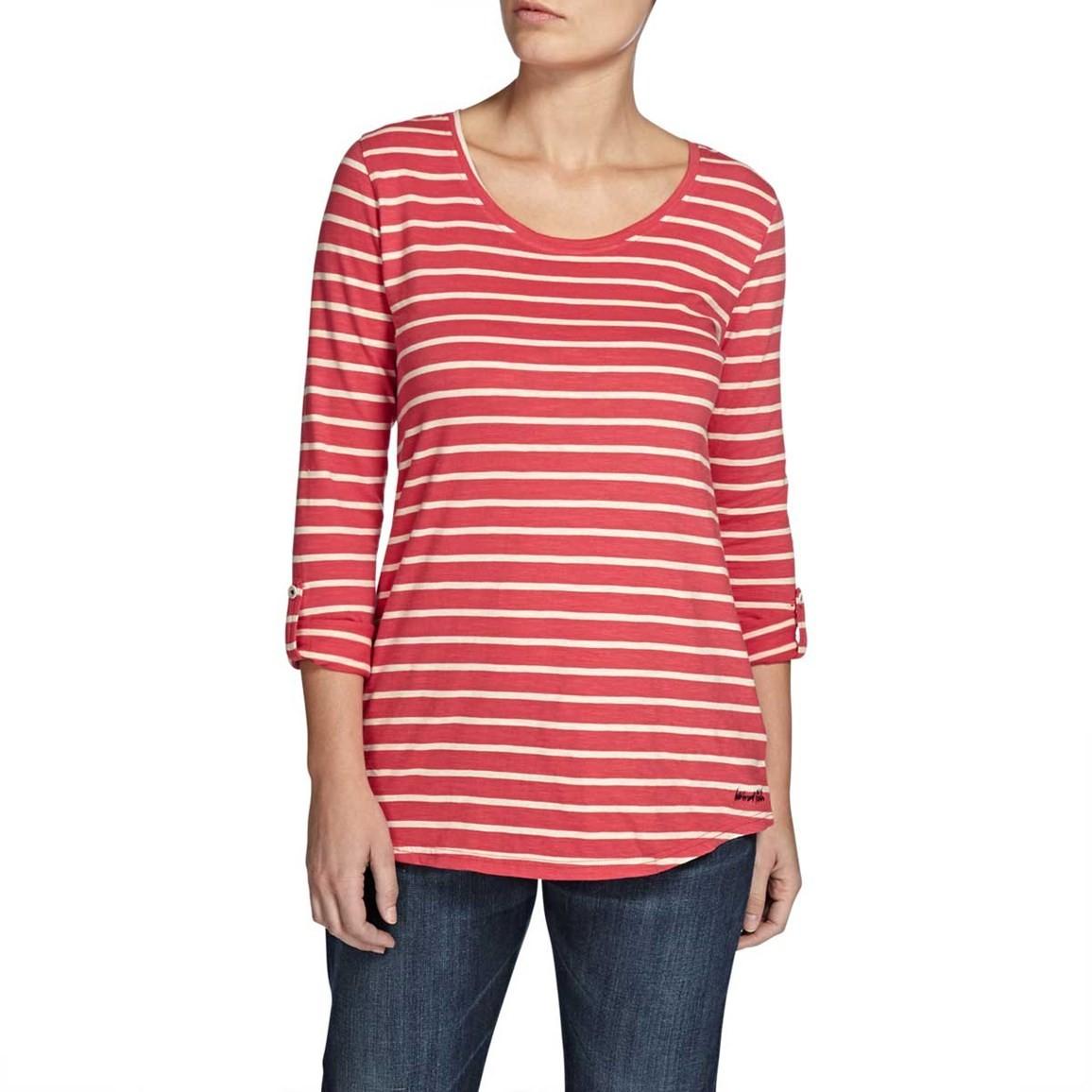 Fairfax Striped Long Sleeve Slub T-Shirt Foxberry