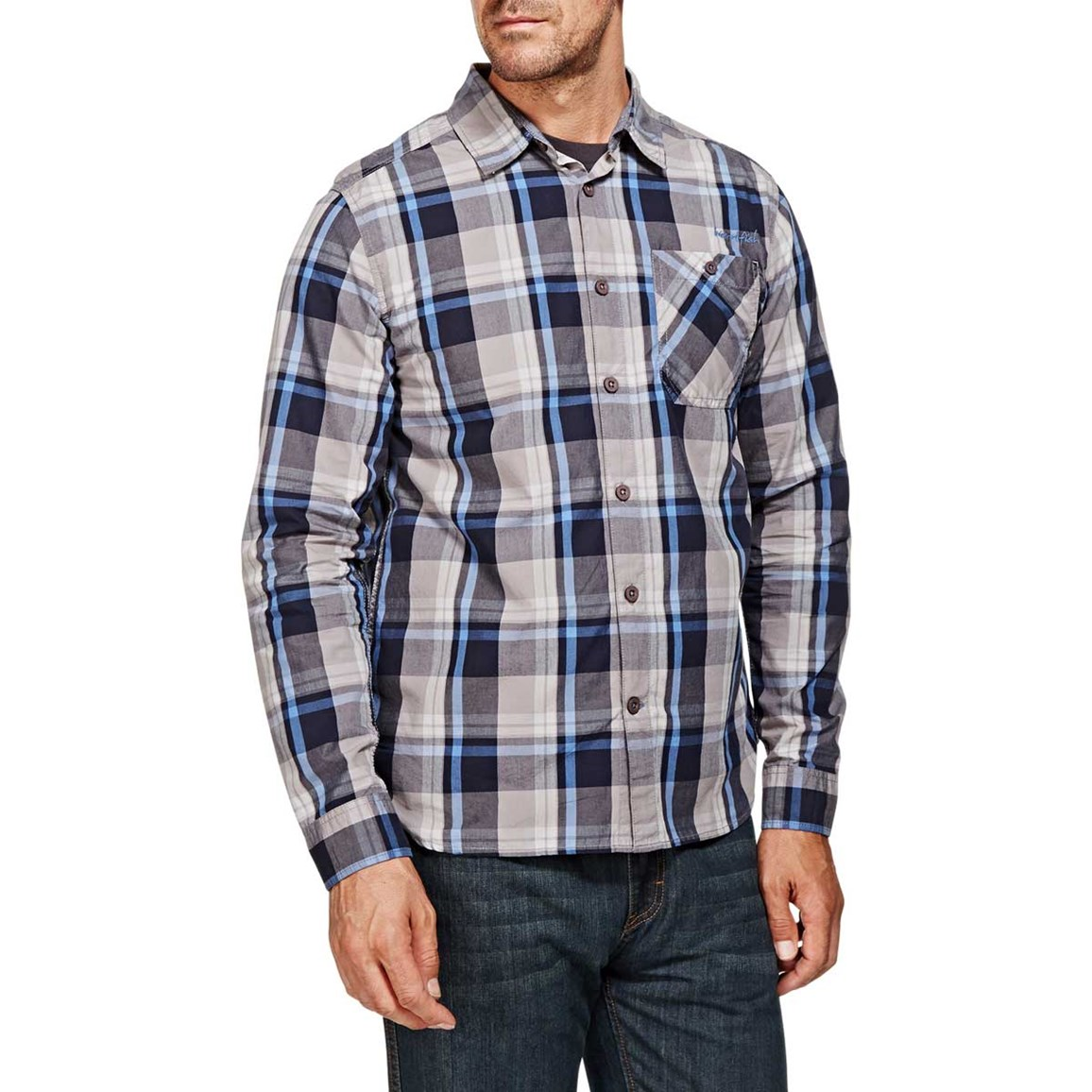 Bromley Check Long Sleeve Shirt Dark Navy