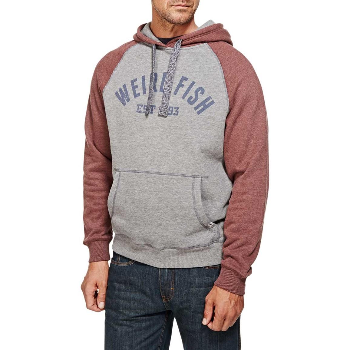 Norie Branded Graphic Print Hooded Sweatshirt Conker
