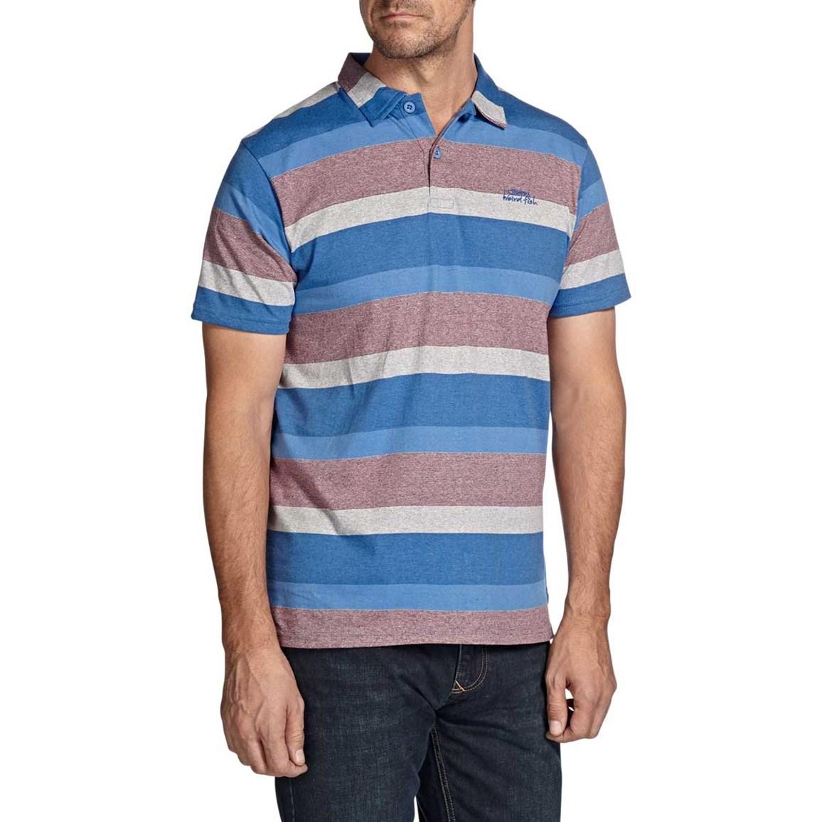 Black Water Stripe Classic Polo Shirt Electric Blue