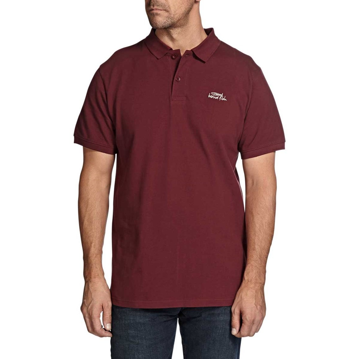 Saltash Plain Rib Collar Pique Polo Shirt Conker