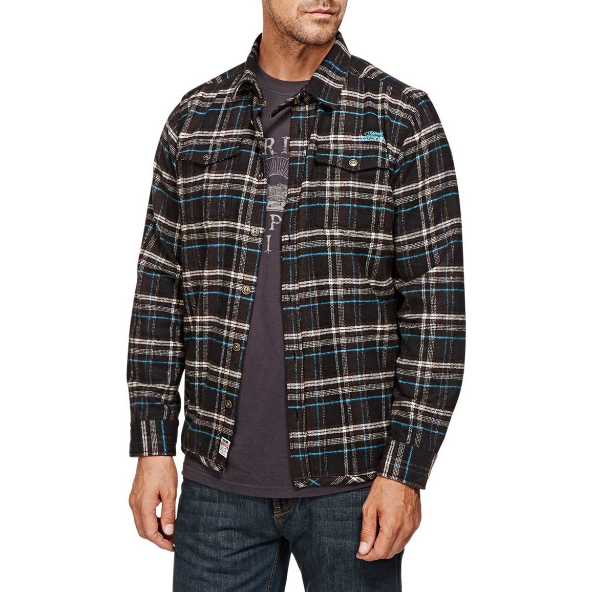 Ashburton Flannel Check Long Sleeve Shirt Seal Brown