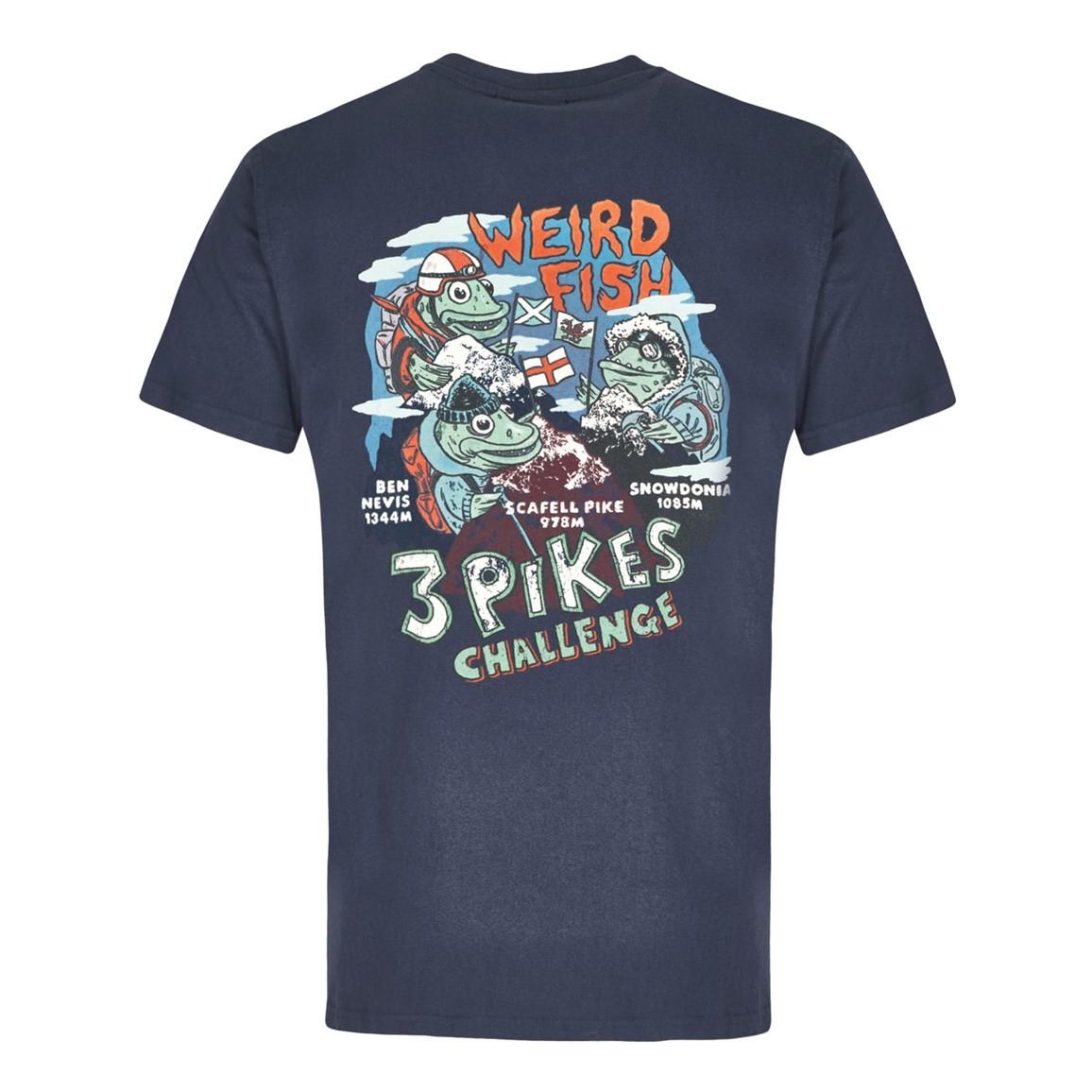 Pikes Challenge Printed Artist T-Shirt Dark Navy