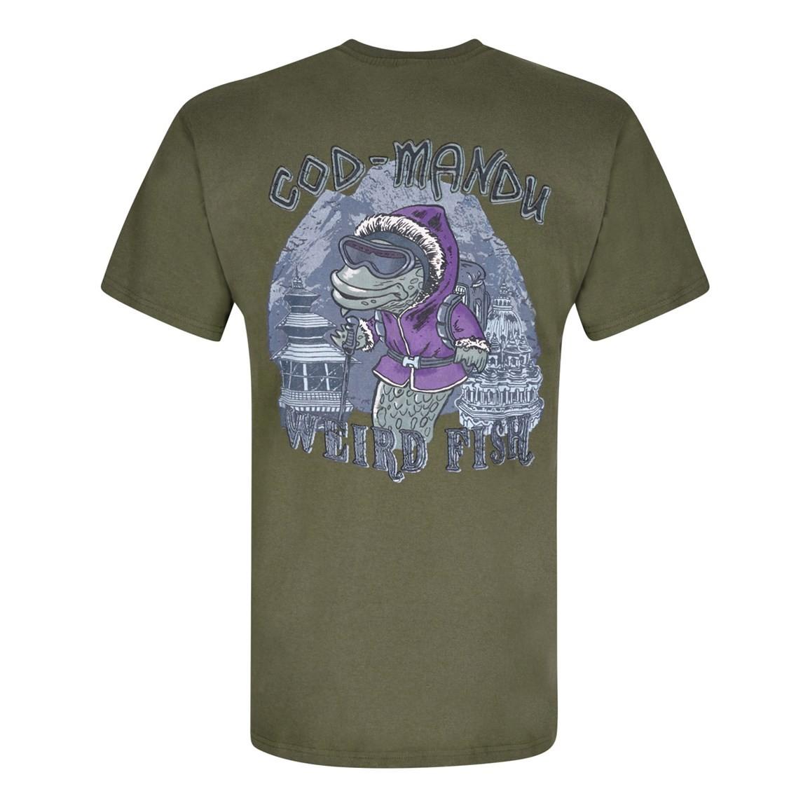 Cod Mandu Printed Artist T-Shirt Olive Night