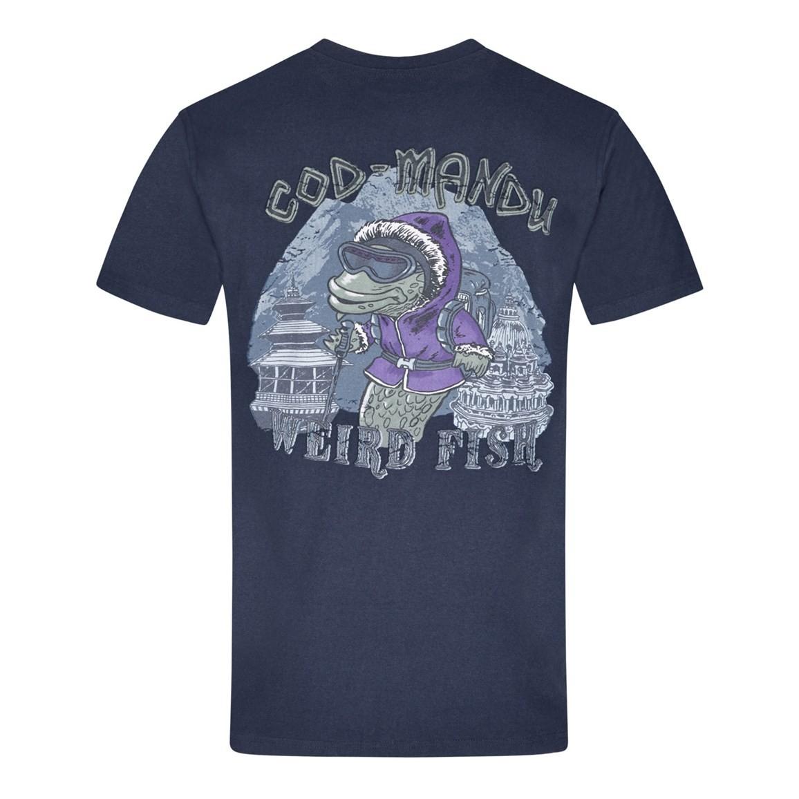Cod Mandu Printed Artist T-Shirt Dark Navy