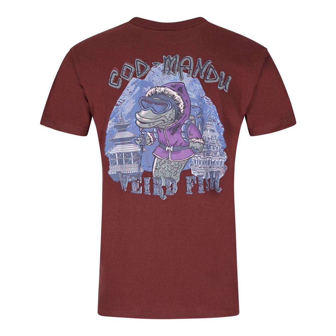 Cod Mandu Printed Artist T-Shirt Conker