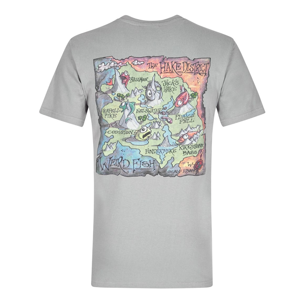Hake District Printed Artist T-Shirt Frost Grey