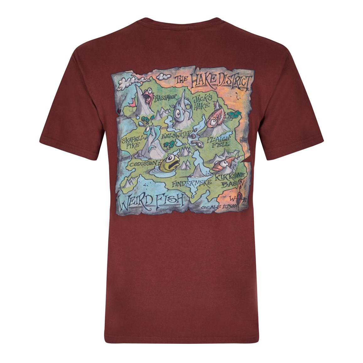 Hake District Printed Artist T-Shirt Conker