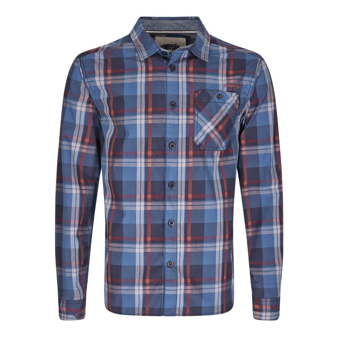 Bromley Check Long Sleeve Shirt Nightshade