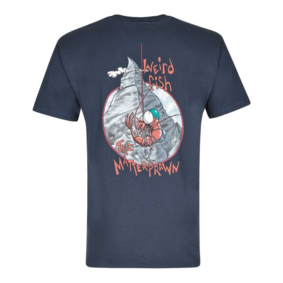 Matterprawn Printed Artist T-Shirt Dark Navy