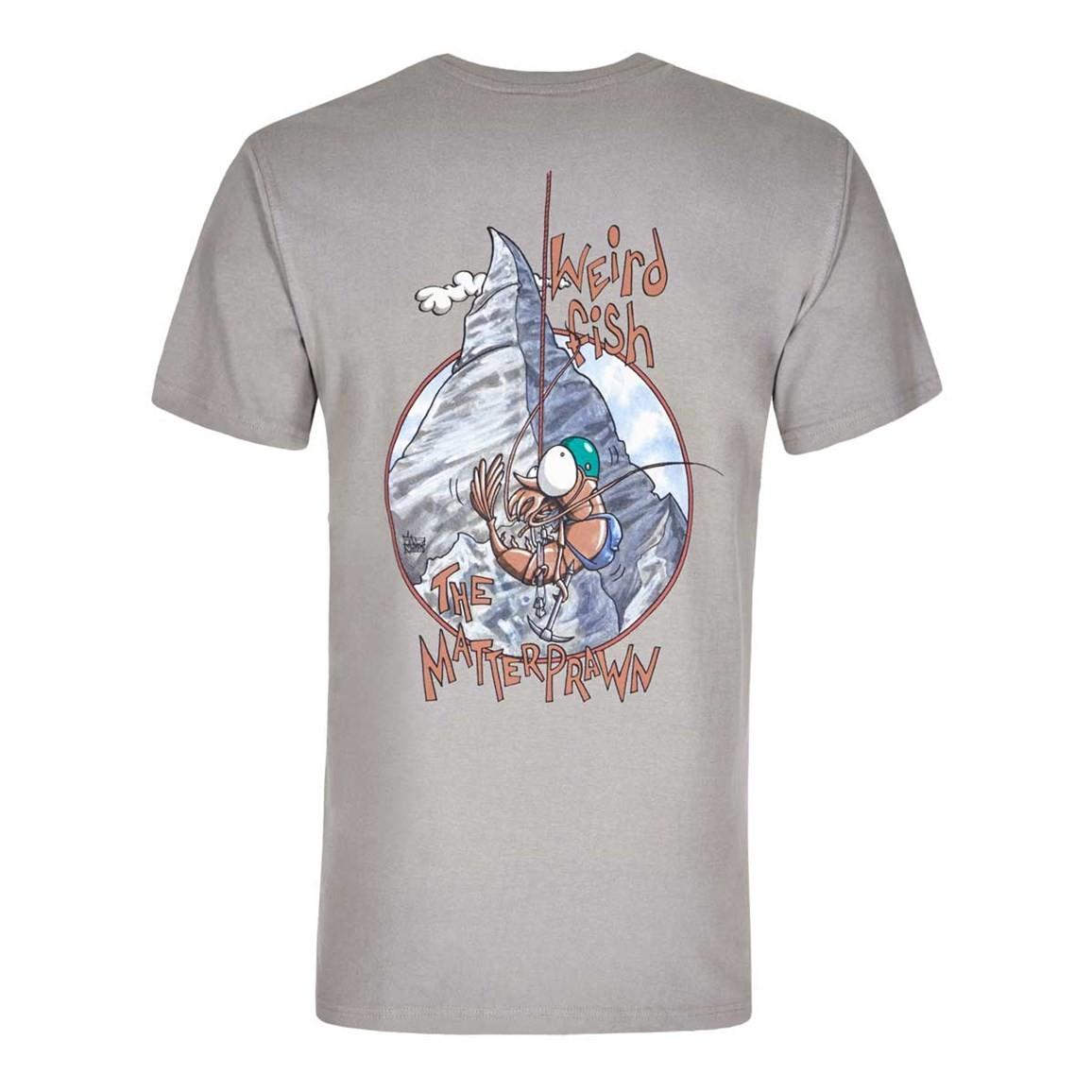 Matterprawn Printed Artist T-Shirt Frost Grey
