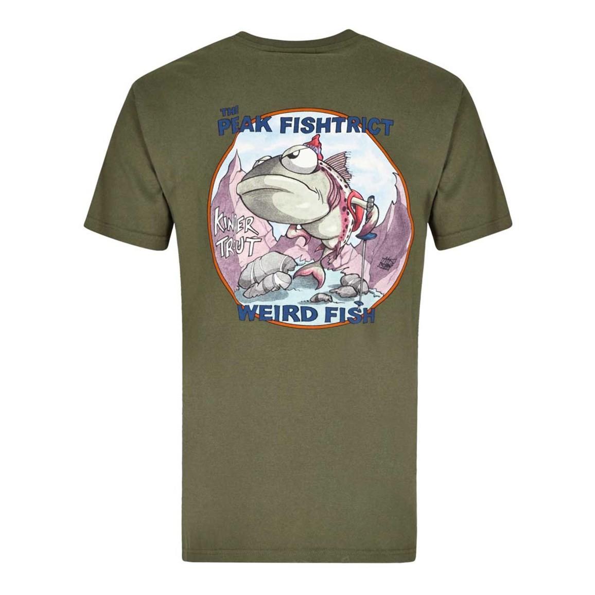 Peak Fishtrict Printed Artist T-Shirt Olive Night