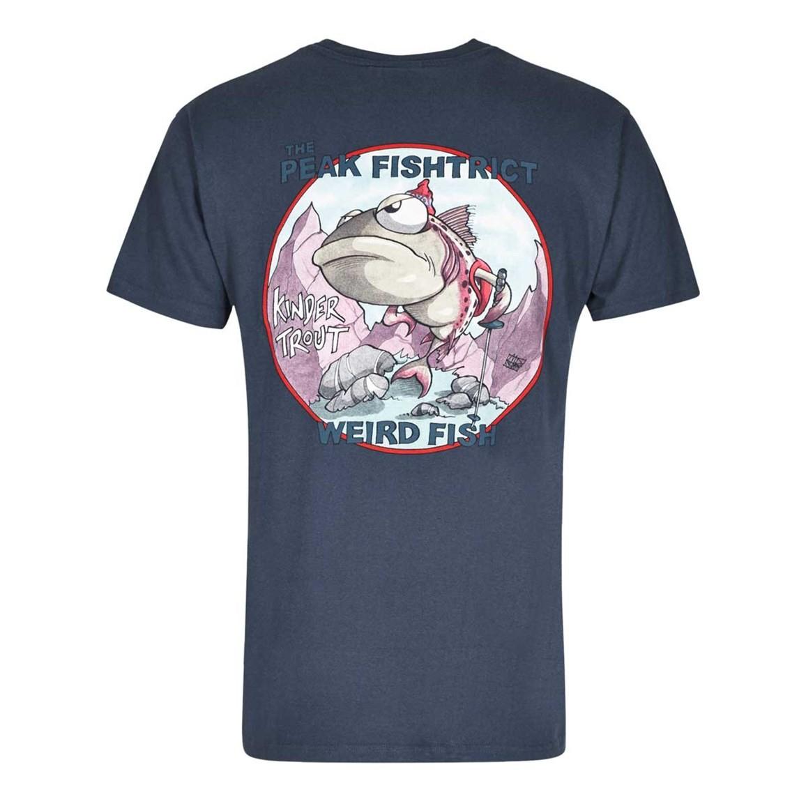 Peak Fishtrict Printed Artist T-Shirt Dark Navy